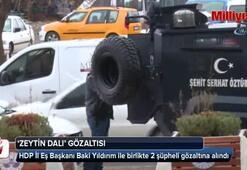 Sosyal medyada propaganda yapan HDPnin eş başkanına Zeytin Dalı gözaltısı