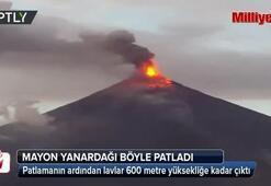 Mayon Yanardağı böyle patladı
