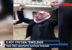 Köylüler ÖSO'yu sevinçle karşıladı