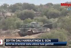 Afrin'de 8 terörist daha etkisiz hale getirildi
