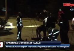 Isparta'da motosiklet kazası