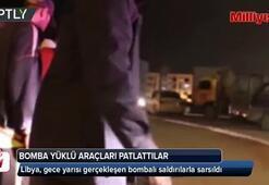 Bomba yüklü araçları patlattılar