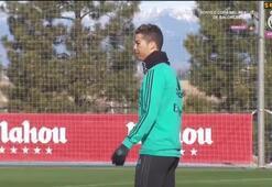 Tekme sonrası Cristiano Ronaldonun gözü bu hale geldi