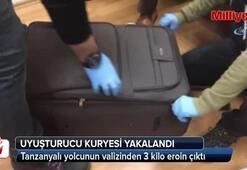 Tanzanyalı yolcunun valizinde eroin çıktı