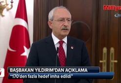Başbakan Yıldırım ve Kılıçdaroğlundan ortak açıklama