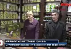 Afrindeki Mehmetçiklere 1 ton bal