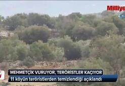 Mehmetçik vuruyor, teröristler kaçıyor