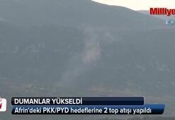 Afrindeki PKK/PYD hedeflerine 2 top atışı yapıldı