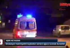 Bursada aşırı hız kazası