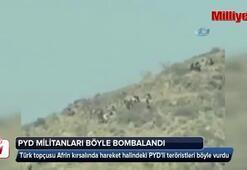 PYD militanları böyle bombalandı