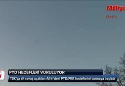 PYD hedefleri vuruluyor