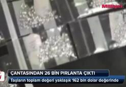 Rus yolcunun bagajında 26 bin adet pırlanta çıktı