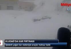 Uludağda kar fırtınası