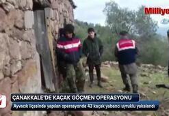 Çanakkalede 43 yabancı uyruklu yakalandı