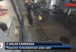 Genç kızların pizza hırsızlığı kamerada
