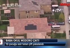 Californiada 13 çocuğu esir tutan çift yakalandı