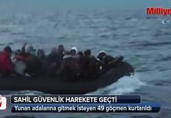 İzmir'de 49 göçmen böyle kurtarıldı