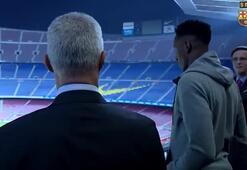 Barcelonadan Yerry Minaya görkemli karşılama...