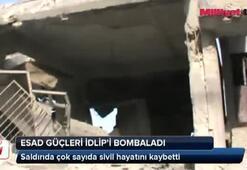 Esad güçleri İdlipi bombaladı