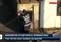 Ankarada 1 ton 42 kilo esrar ele geçirildi