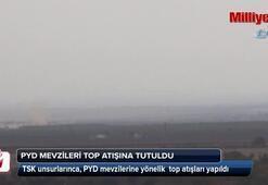 TSK, PYD mevzilerini vurmaya başladı