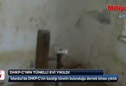 DHKP-Cnin kazdığı tünelin bulunduğu dernek binası yıkıldı