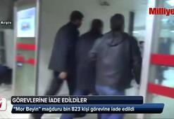 """""""Mor Beyin"""" mağduru bin 823 kişi görevine iade edildi"""