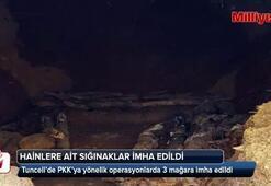 Tuncelide teröristlerin kullandığı 2 sığınak imha edildi