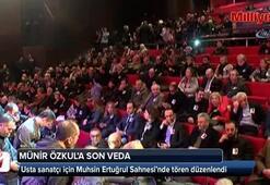 Münir Özkul için Muhsin Ertuğrul Sahnesi'nde tören düzenlendi
