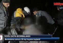 Doğu Gota bombalandı: 25 ölü