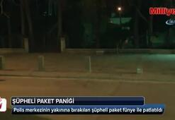 Polis merkezi yakınında şüpheli paket paniği
