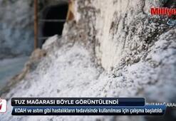 Tuz mağarası böyle görüntülendi