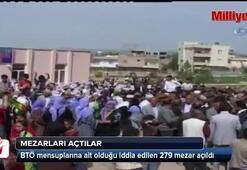 Bitlis'te BTÖ mensuplarına ait mezarlar açıldı