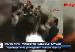 Hande Yenerin yılbaşı konseri olaylı geçti