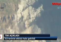 TSK: 53 terörist etkisiz hale getirildi