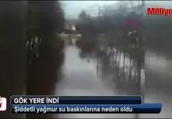 Şiddetli yağmur Fethiyede baskınlara neden oldu