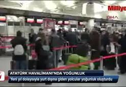 Atatürk Havalimanında tatil yoğunluğu