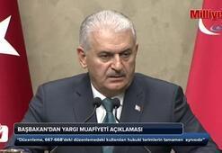 Başbakandan yargı muafiyeti açıklaması
