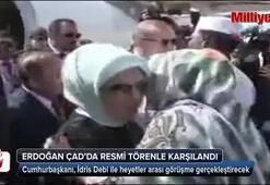 Cumhurbaşkanı Erdoğan Çadda resmi tören ile karşılandı