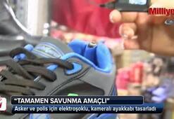Asker ve polis için elektroşoklu, kameralı ayakkabı tasarladı