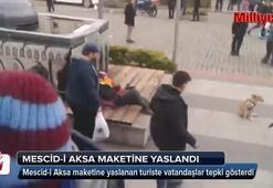 Trabzonlular Mescid-i Aksanın maketine saygısızlığı kabul etmedi