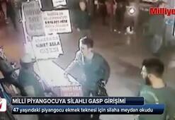 Piyangocudaki silahlı soygun anı kamerada