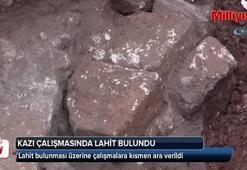 Tarsus'ta kazı çalışmalarında lahit bulundu