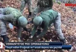 PKKnın sığınak ve erzak deposu bulundu