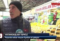 Pazarda sebze meyve fiyatları el yakıyor