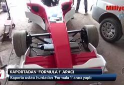 Kaporta ustası hurdadan Formula 1 aracı yaptı