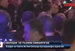Erdoğan Ak Parti Ümraniye ilçe başkanlığını ziyaret etti