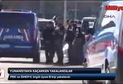 Yunanistana kaçarken yakalandılar