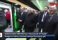 Sürücüsüz İlk Metro Hattını Cumhurbaşkanı Erdoğan Test Etti