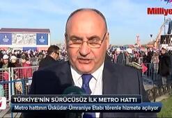 Türkiyenin sürücüsüz ilk metro hattı açılıyor